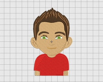 Boy Stylish Avatar Embroidery Design in 4x4 5x5 and 6x6 Sizes