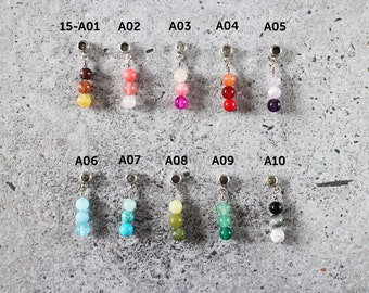 Cord bracelet charm - ombre gemstones