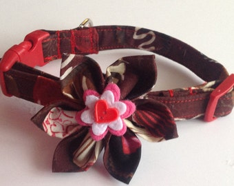 Valentine's Chocolate Candy Flower Collar for Dogs and Cats