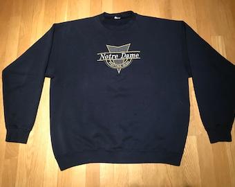 Vintage 90s Notre Dame Fighting Irish Crewneck Sweatshirt