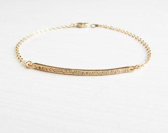 Gold Bar Bracelet   Dainty Gold Bar Bracelet   Layering Bracelet   Minimalist Bracelet   Dainty Bracelet   Gift for Her   Bridesmaid Gift