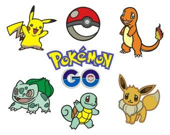 7 Pokemon Applique Design #1 - 4 SIZES