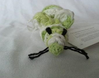 Handmade crochet Cotton Cat toy with organic catnip