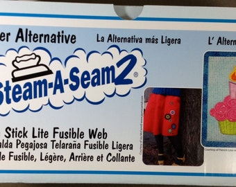 """Steam a Seam 2 LITE Fusible Web - 12"""" wide sold by the yard - BACK in PRODUCTION!!!!"""