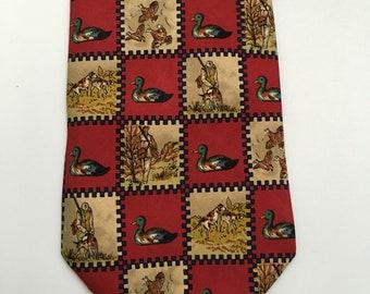 Vintage Longchamp silk tie|Rare|Gift for him|90s