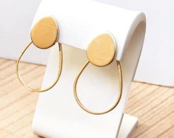 Swarovski Oval Earrings. Geometric and minimal