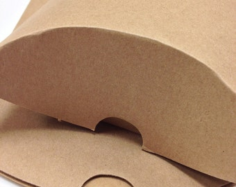 DIY Brown Large Size Kraft Pillow Boxes - set of 10 - Perfect for Embellishing with Deco Tapes - 7 x 5 1/2 x 2 Inches