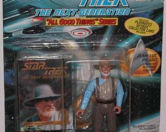 Vintage Star Trek The Next Generation Action Figure Playmates 1996 Picard #6974 - Science Fiction - Gene Roddenberry – Enterprise - Data
