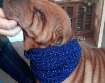 Hand Crocheted Dog Cowl