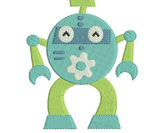 Instant download robot embroidery design download