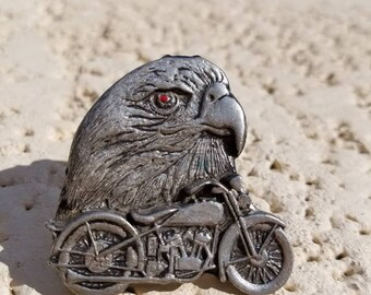 Eagle Head and harley motorcycle Vest pin, nice find