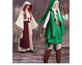 Simplicity Pattern 8199 -Link-Legend of Zelda, Elf, Fairy Hooded Costume size 6-14