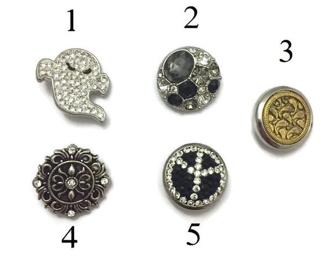Snap Buttons, Snap Charms, Interchangeable Snaps for Standard Snap Jewelry, Will Fit All Standard Ginger Snap Necklaces and Snap Bracelets