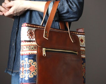 Top Handle Leather Tote Bag Organizer Shoulder Crossbody bag Fully Lined tote Zipper handbag for women Leather Messenger Handmade Tote Bag