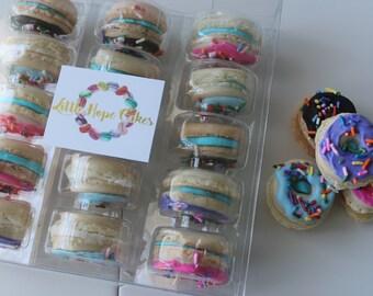 15 Pack Donut Inspired Macarons