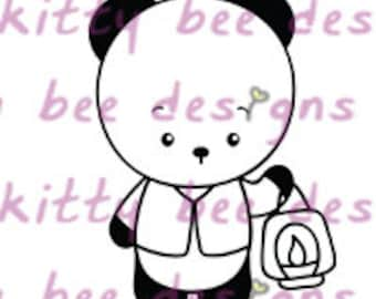 Latern Panda Digital Stamp
