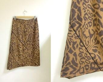 Leopard print midi skirt s/m