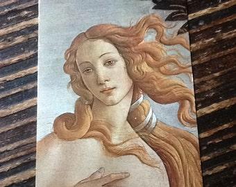 """Vintage 70's Birth Of Venus Postcard """"unwritten"""""""