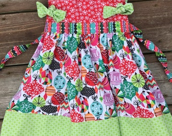 3T ready to ship Christmas dress - sale - toddler holiday dress - toddler christmas dress
