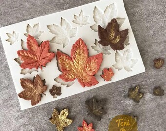 Leaf Mold - Maple leaf silicone mold - candy mold - sugar art mold - chocolate mold - fondant molds craft mold