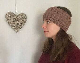 Quality handknit Ribbed Headband or Earwarmer. Ready to ship.