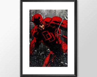Daredevil - Classic Superhero  - PRINTED - BUY 2 Get 1 FREE