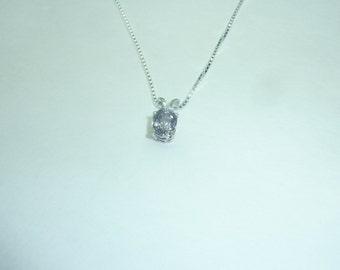 Sterling Silver Blue/Violet Spinel 18'' Necklace