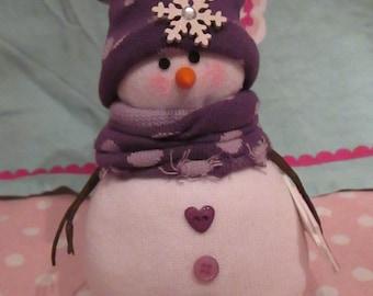 Snowman - Sock Snowman - Shelf Sitter, Doorstop, Paperweight - Christmas Holiday Decoration - Cute Handmade Snowman - Ornament