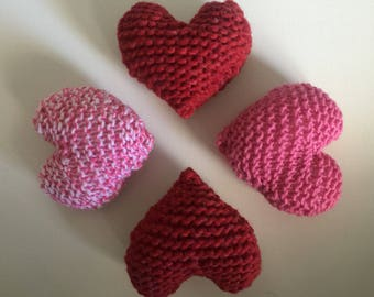 Stuffed Knitted Hearts