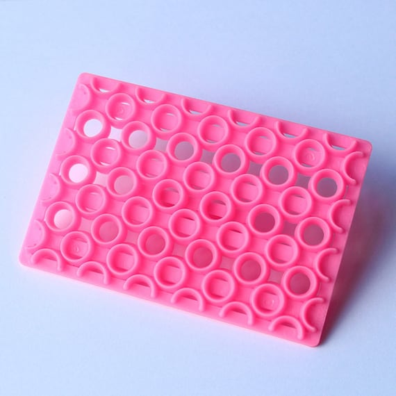 Round circle plate, plastic imprint stamp texture is for polymer clay, Mokume stamp, cookies, fondant cake decorating