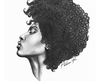 She - Large Art Print - The Beauty Collection