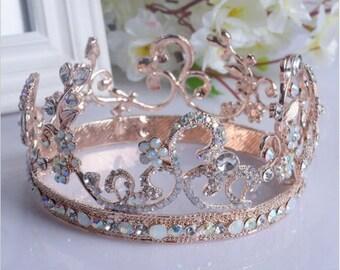 ROSIE - Rose Gold Wedding Bridal Crown