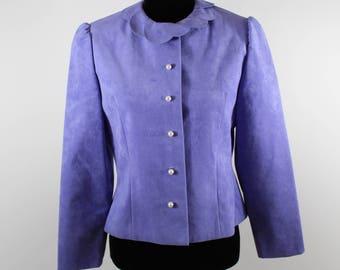 Vintage Vera Maxwell Violet Ultrasuede Jacket sz S/XS