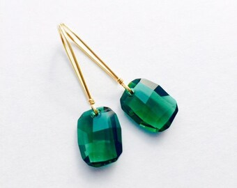 Lorelei Emerald Swarovski Earrings