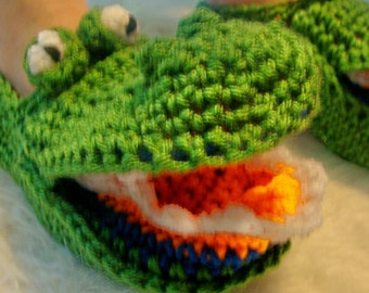 Teens to Adults Alligator Slippers Crochet Pattern  Inspired By the Florida Gators Football Team485