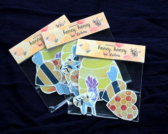 Honey Honey Bee Stickers