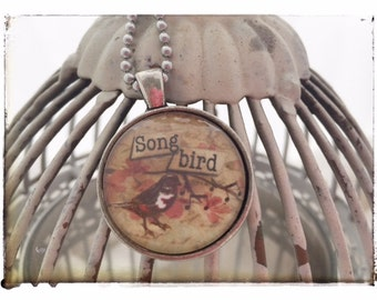 Song Bird - Vintage Pendant Necklace