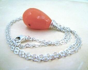 Orange Drop Necklace