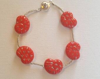 Coral shells bracelet