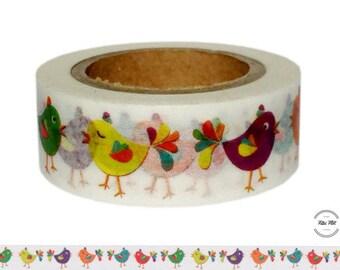 Washi Tape BIRDS colorful