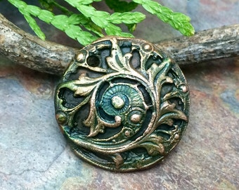 Artisan CopperPrecious Metal Clay  Pendant