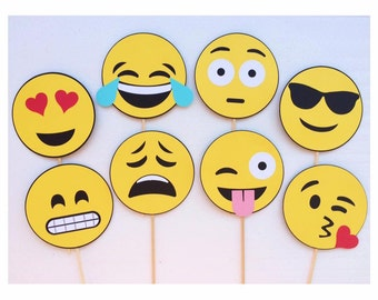 Emoji Photo Booth Props ; Smiley Face Photobooth Props ; Smile Emojis ; Social Media Party Decorations
