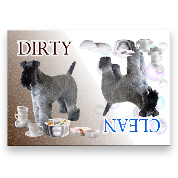 Kerry Blue Terrier Clean Dirty Dishwasher Magnet
