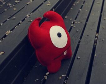 Nicholas - Red Felt Monster Soft Toy