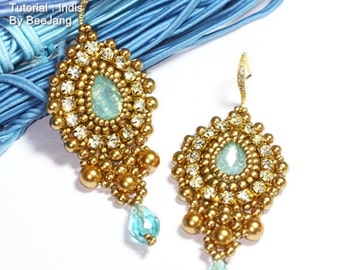 PDF Tutorial - Indis Earrings Beadweaving Instruction Beading Pattern Instant download