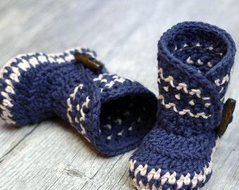 Crochet Patterns - Dakota Baby Boot - Boy - Girl -  Instant Download -  PDF kc550