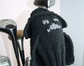Darth Vader, Star Wars, Knit Golf Club Cover, Golf Headcover, Golf Head Cover, Knitted Golf Head Cover, Gifts for Men, Golf Gifts