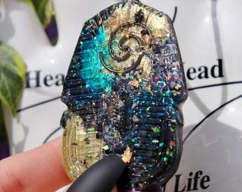 Orgonite® - Orgonite® Pendant - King Tut - Necklace - Handmade - Orgone Generator® - Crystals - Gift - EMF Protection - HoodXHippie