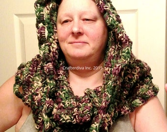 Cowl, Handcrocheted Cowl, Infinity Scarf, Ladies Accessories, Ladies Clothing, Multi-Color Cowl, Ready to Ship