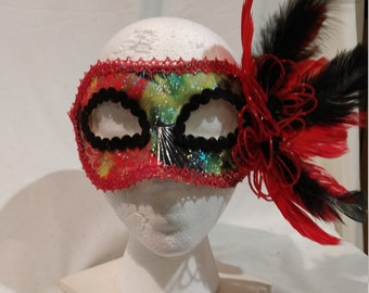 Hand crafted, one of a kind party mask
